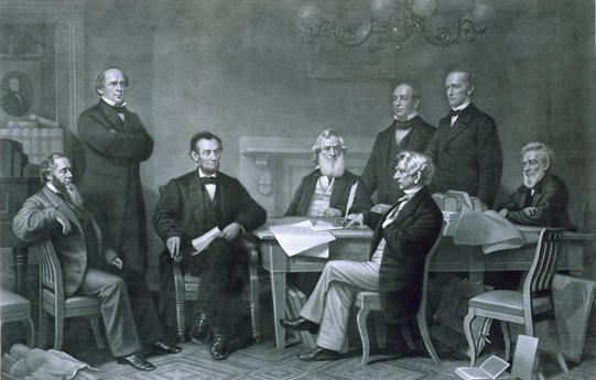 The First Reading of the Emancipation Proclamation before the Cabinet